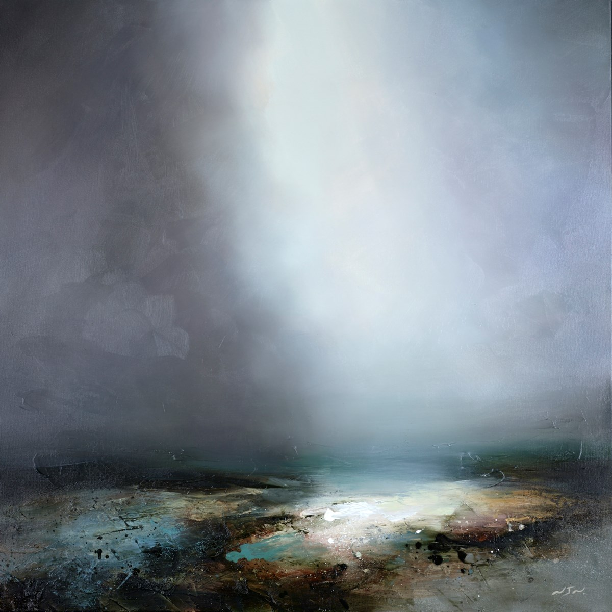 Becoming Light by neil nelson -  sized 40x40 inches. Available from Whitewall Galleries